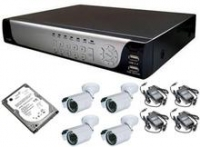 KIT de 4 cam ext. IR + Grabador ecom, 500Gb  KITCW5