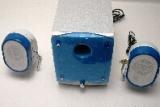 Altavoz Multimedia SL-2008 - Especificaciones:    Uso recomendado:PC/MAC/VCD/CD/MD/TV.    Numero de altavoz: 3    Conectores: jack    Alimentacion:220V,50Hz, AC    Tamaños(L* W* H*): 27.2*14*20.5 CM, satelite:9.2*10.5*13.5 CM    Subwoofer:Wooden    Salida(RSM): 25W +10W*2    Frecuenc