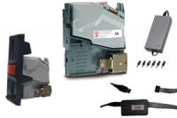 KIT AC6 CCTALK ESCUDO LARGO + ACCESORIOS - KIT Selector de Monedas Modular AC6 CCTALK-D2S Europa + Interface USB + Escudo Selector Largo + Fuente de alimentación. Válido para SiteKiosk. Fácil integración en Kioscos.