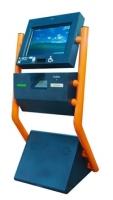 Kiosco Multimedia - NEMESIS - Kiosco de interior, tipo Tótem, de uso mixto, para facilitar el acceso a usuarios discapacitados y niños gracias a su modulo oscilante que modifica el ángulo de visión del monitor.