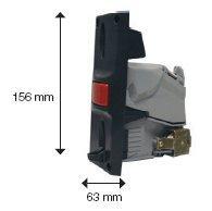 Escudo Selector Largo  PN: 41141781 - Para Selector de Monedas Modular AC6 CCTALK-D2S Europa.