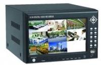 """Grabador DVR, 4Cn H.264, con TFT 7""""(sop. movil 3G)   DVR8004TFT - Video grabador digital de CCTV con monitor integrado de 7 pulgadas para facilitar la configuración sin necesidad de monitor adicional."""