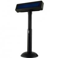 VISOR  CLIENTE POSIFLEX VFD 2x20 USB NEGRO PN: PD-2800 - Visor de cliente con tecnología VFD de alta visibilidad en color azul.