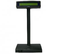 VISOR CLIENTE POSIFLEX LCD 2x20 RS232 NEGRO PN: PD-300 - Visor de cliente de dos líneas con tecnología LCD.