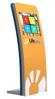 Kiosco Multimedia - Optima CORINTIA RMR - Kiosco Multimedia - Optima CORINTIA RMR de fondo reducido y atractivo diseño. Admite opcionalmente impresora de tickets de alta capacidad.