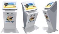 Kiosco Multimedia - Optima Corintia SGT - Diseñado para ofrecer un fácil acceso a la información a cualquier usuario. Su diseño permite el uso a personas en silla de ruedas, de la tercera edad, o niños.